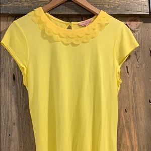 Ted Baker ruffle collar tee size 2